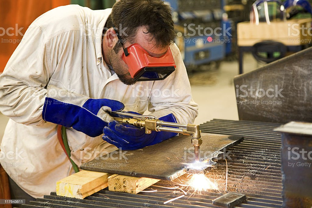 Worker in Metal Factory royalty-free stock photo