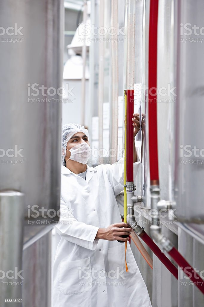 Worker in Plant Process royalty-free stock photo