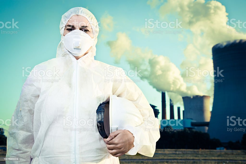 Worker in safety suit royalty-free stock photo