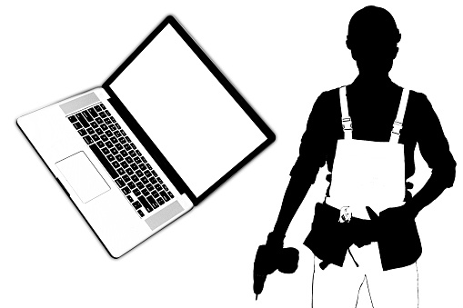 istock worker industrials avatar character laptop 1193143323