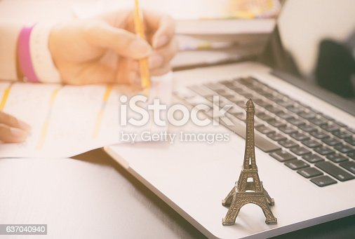 istock Worker is applying for Visa to Paris France. 637040940