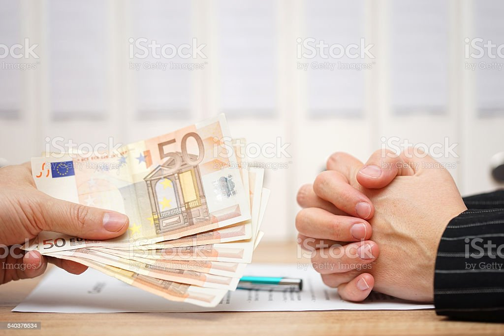 worker is refusing to sign legal document and accept stock photo
