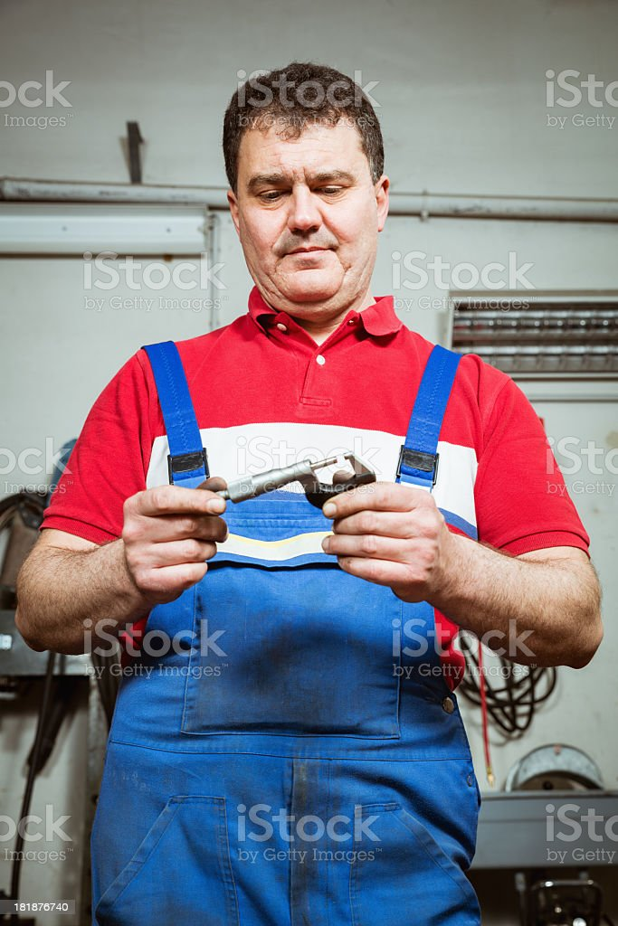 Worker machinist royalty-free stock photo