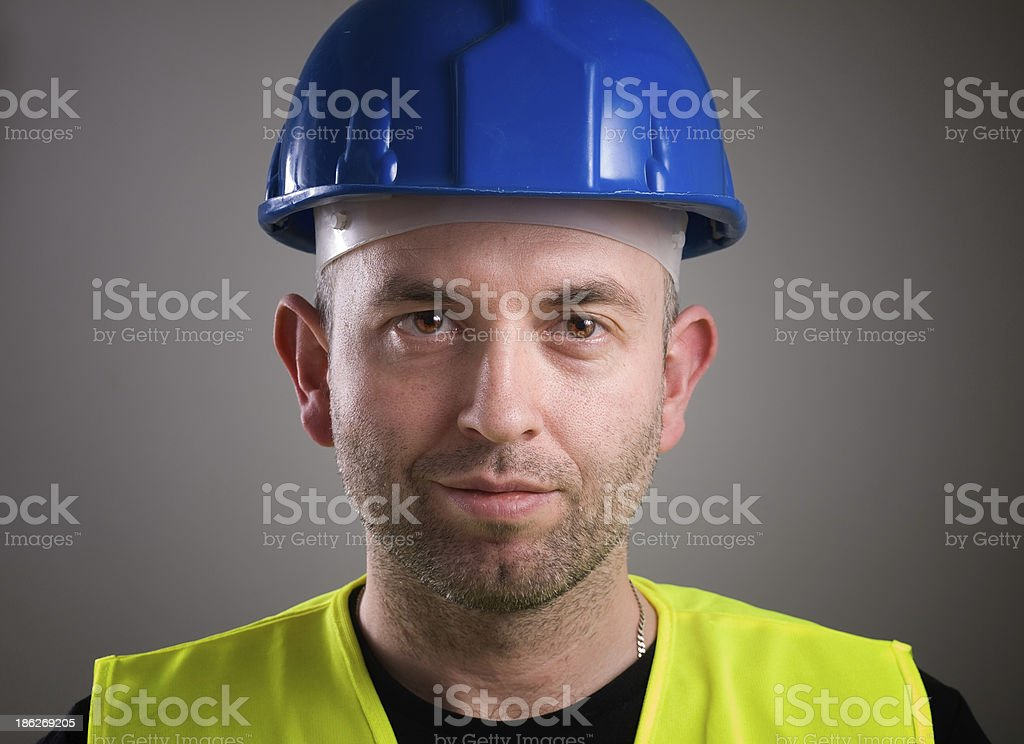 Worker man portrait stock photo