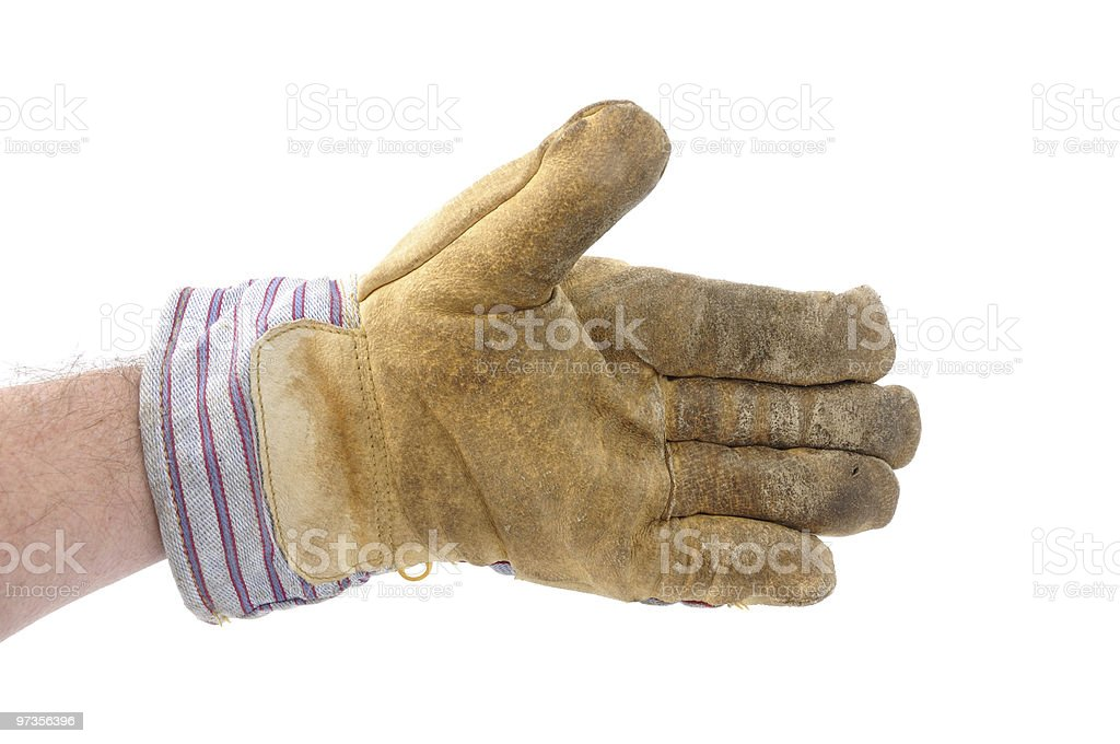 Worker Offering a Handshake stock photo