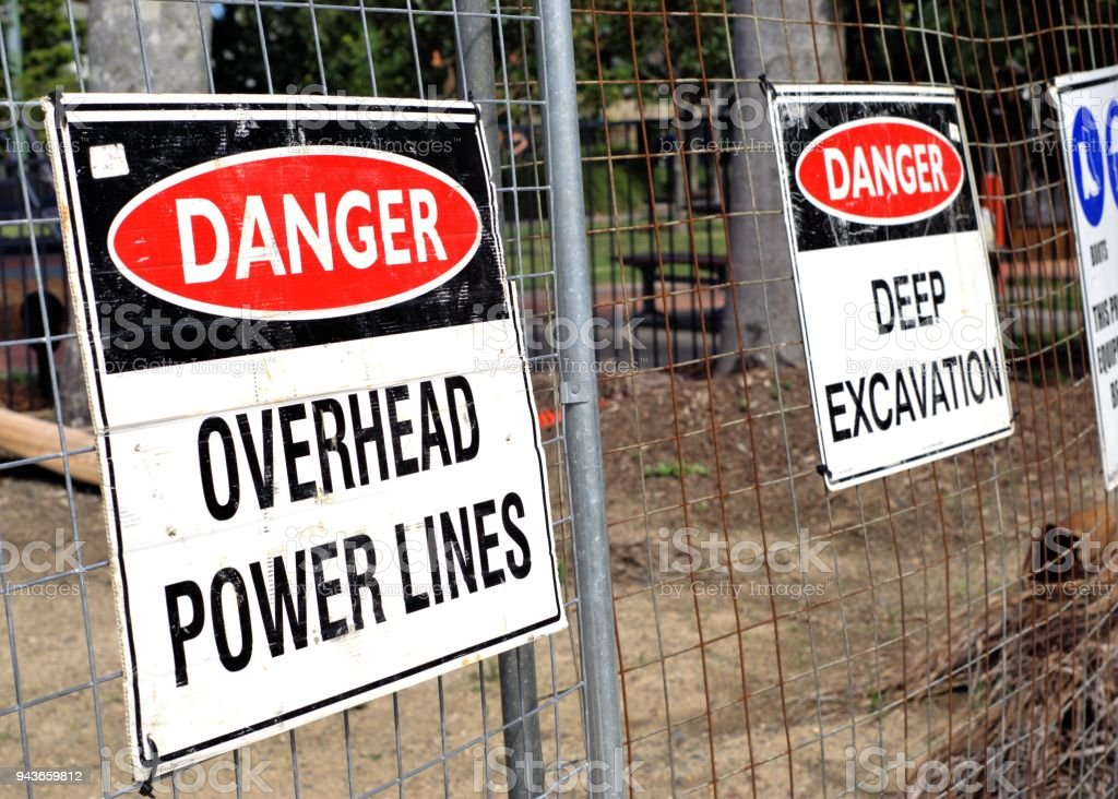 Worker Safety Sign Board At Construction Site Stock Photo Download Image Now Istock
