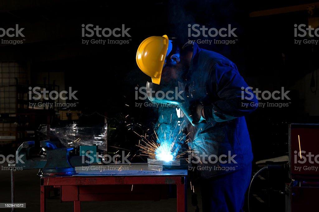 Worker Welding royalty-free stock photo