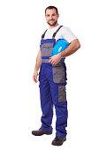 istock Worker with blue helmet 515642934