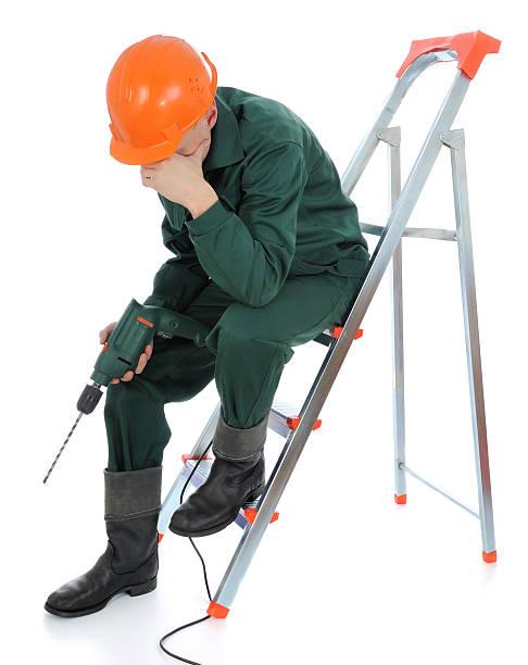 Arbeitnehmer mit drill – Foto