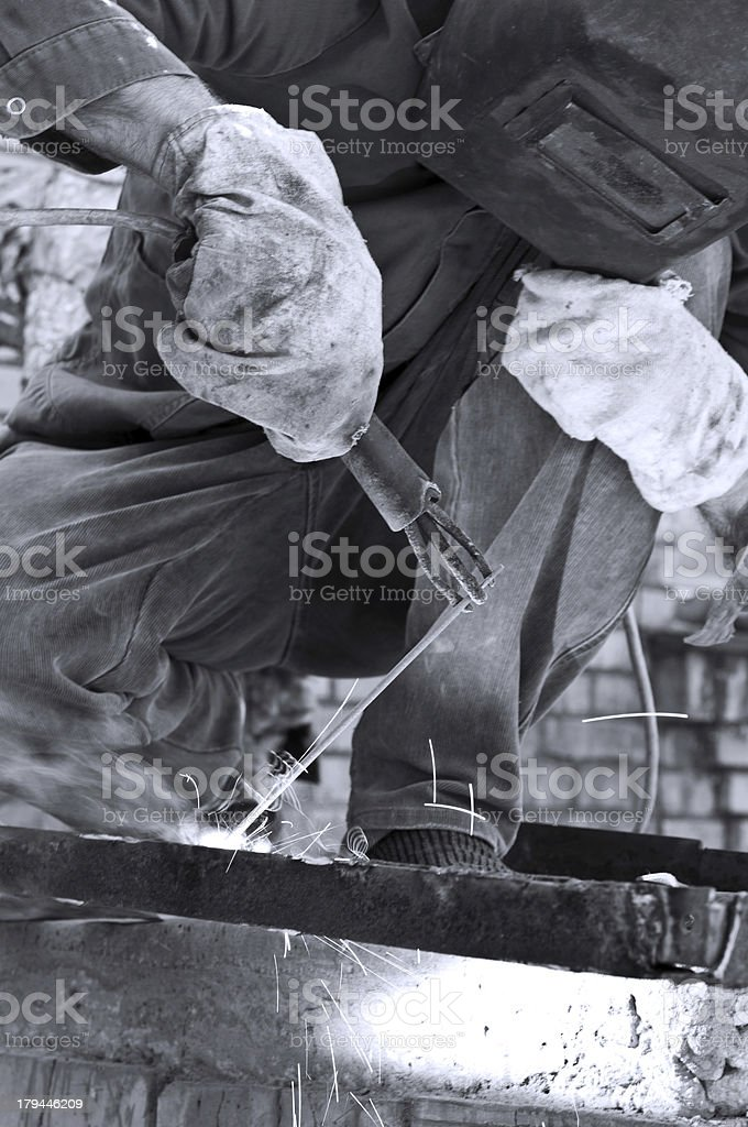 worker with protective mask royalty-free stock photo