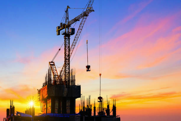 worker working on construction. - civil engineering stock pictures, royalty-free photos & images