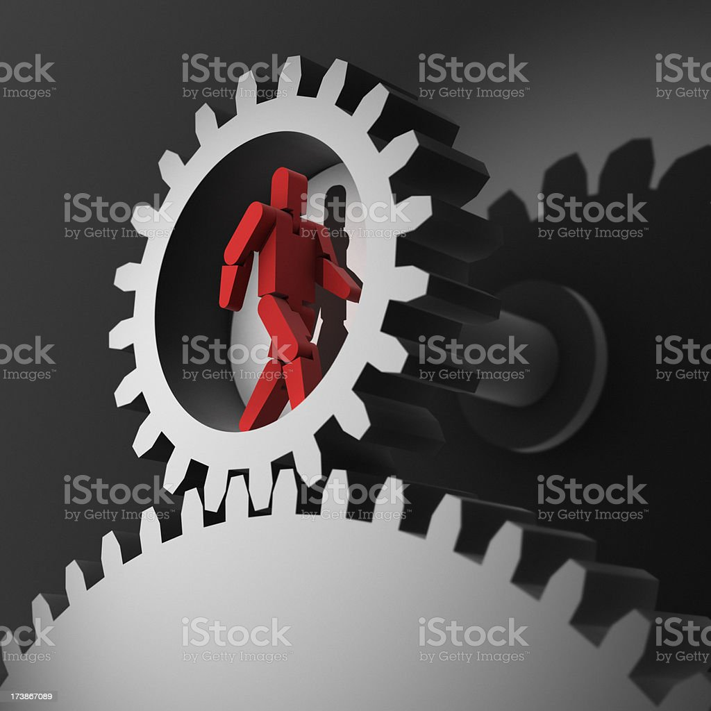 Worker XL royalty-free stock photo