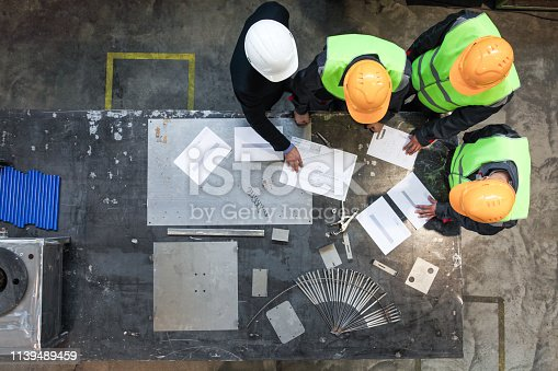 istock Workers and manager working with documents 1139489459