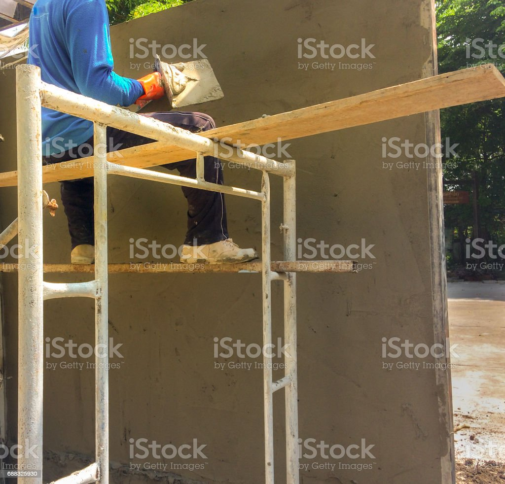 Workers are actively engaged. stock photo