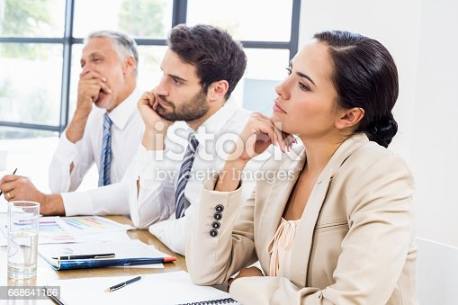 istock Workers are thinking and gesturing 668641166