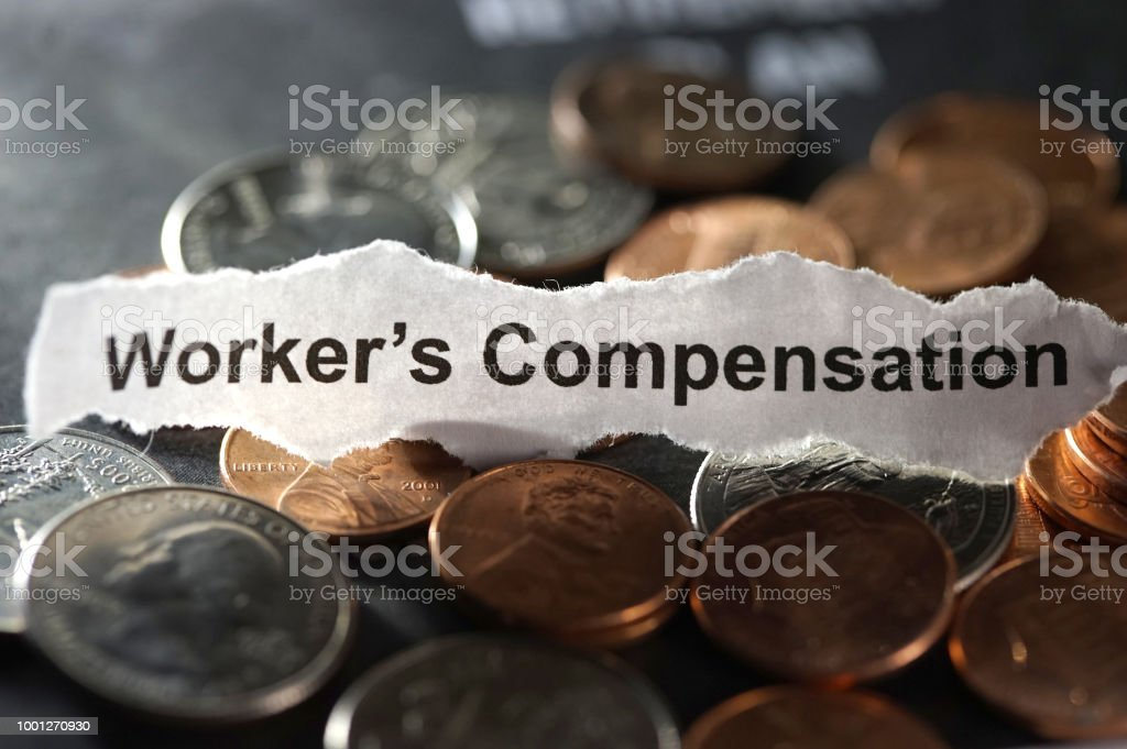worker's comp stock photo