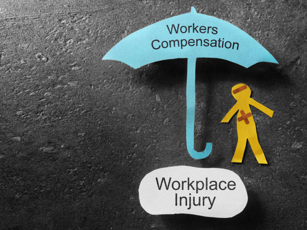 Workers Compensation injury concept stock photo