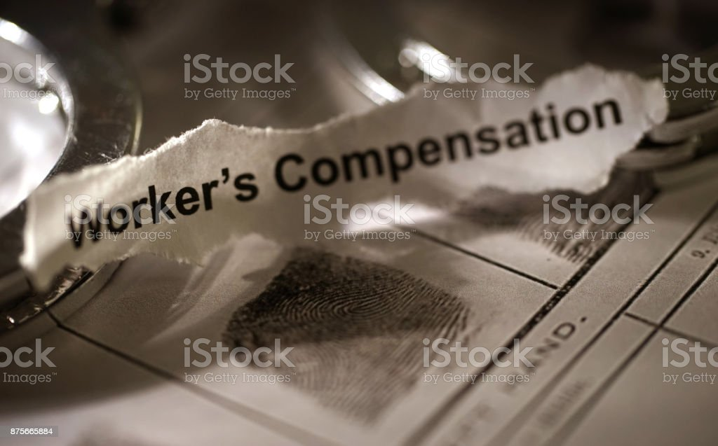 worker's compensation stock photo