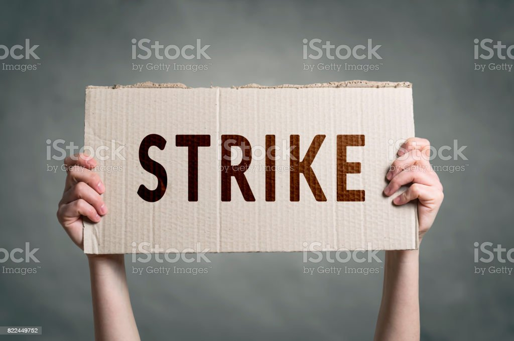 Workers going on Strike stock photo