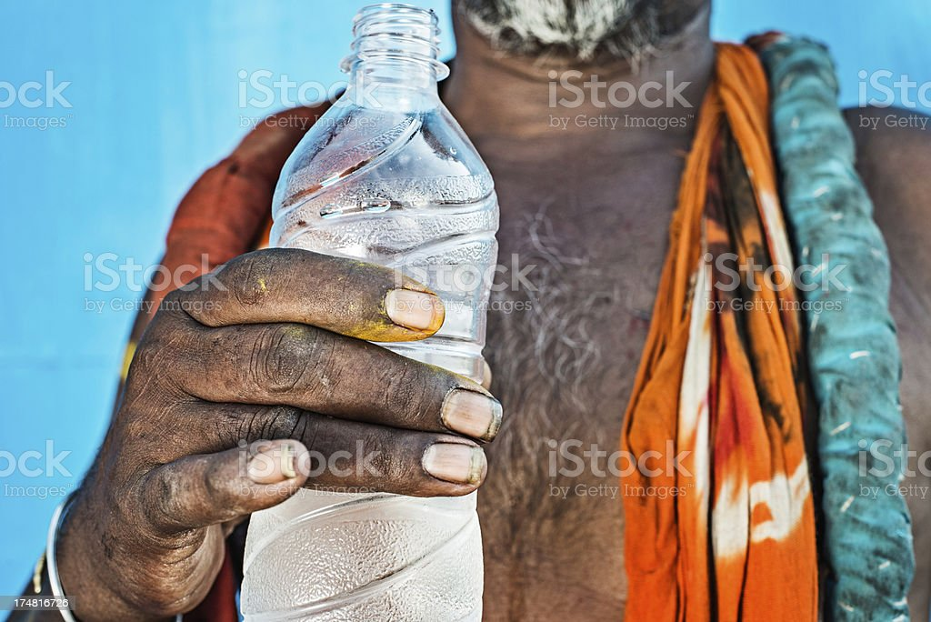 Worker's hand royalty-free stock photo