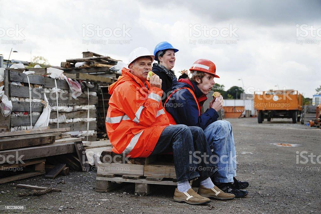 Arbeitnehmer, die Mittagspause – Foto