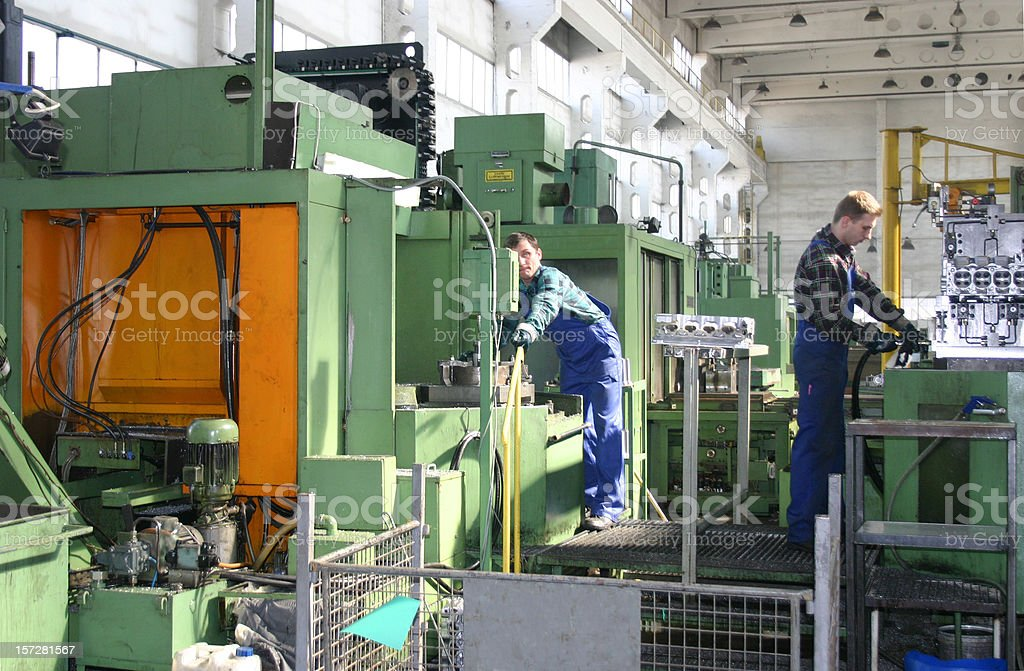 Workers In The Factory royalty-free stock photo