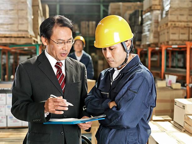 労働者の倉庫 ストックフォト