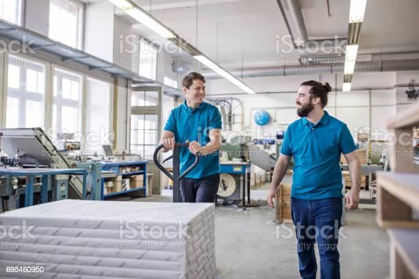 Arbeitnehmer Die Gestapelten Pakete Auf Seite Lkw In Druckerei Stockfoto und mehr Bilder von 30-34 Jahre