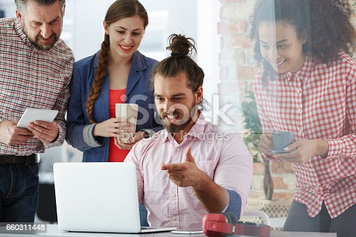 660311448 istock photo Workers of advertising agency 660311448
