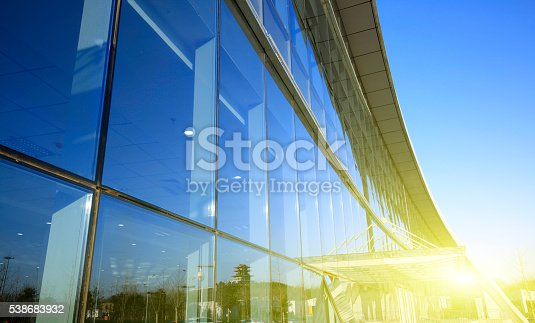 istock Workers wash the modern office building 538683932