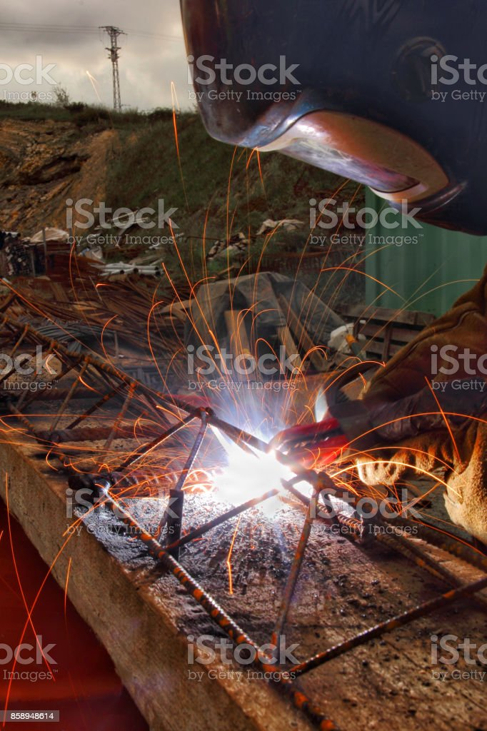 Workers Welding Steel Stock Photo & More Pictures of Adult - iStock