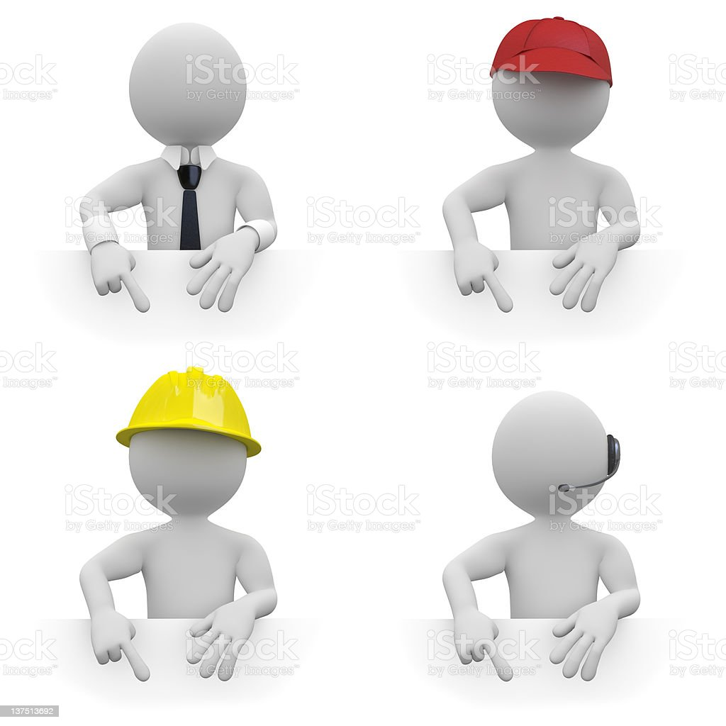 Workers with copyspace royalty-free stock photo