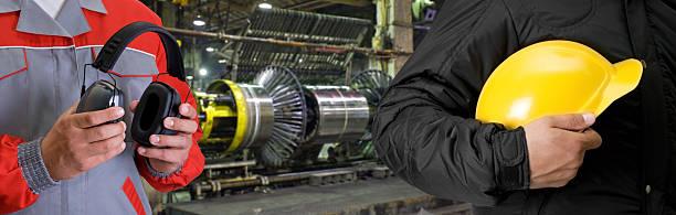 Arbeitnehmer mit Sicherheit uniform – Foto