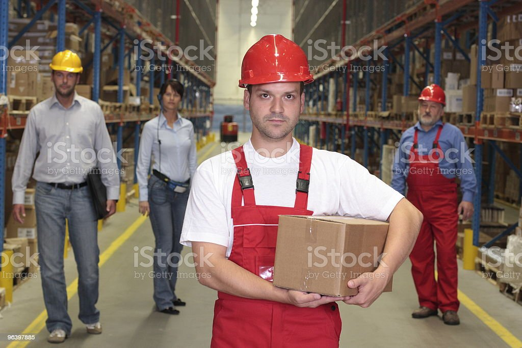 workforce  in warehouse - Royalty-free Adult Stock Photo