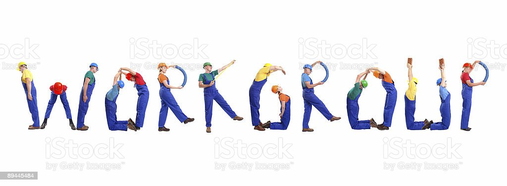 Workgroup royalty-free stock photo