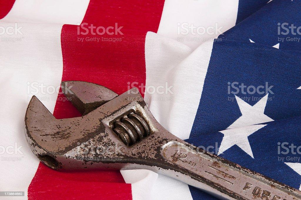 Working America royalty-free stock photo
