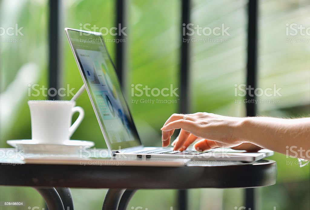 Working and Communication stock photo