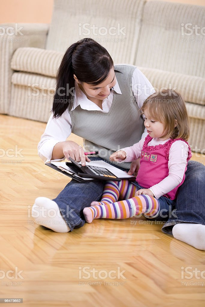 working and parenting royalty-free stock photo