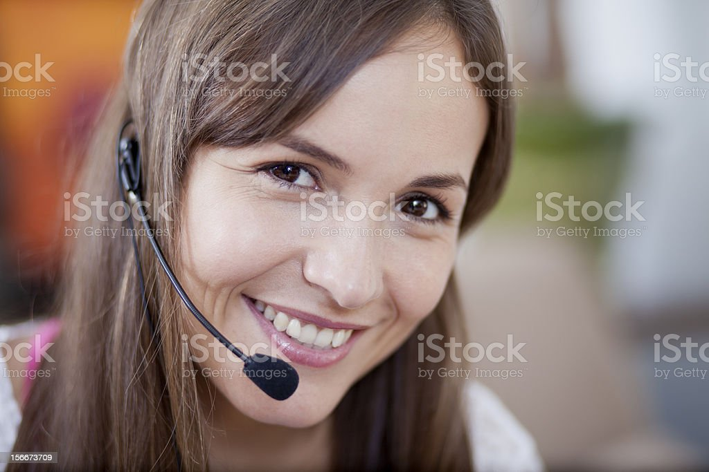 Working and taking calls from home royalty-free stock photo