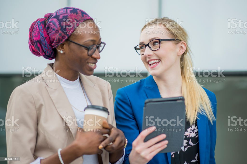 Working and Walking - Royalty-free 20-29 Years Stock Photo