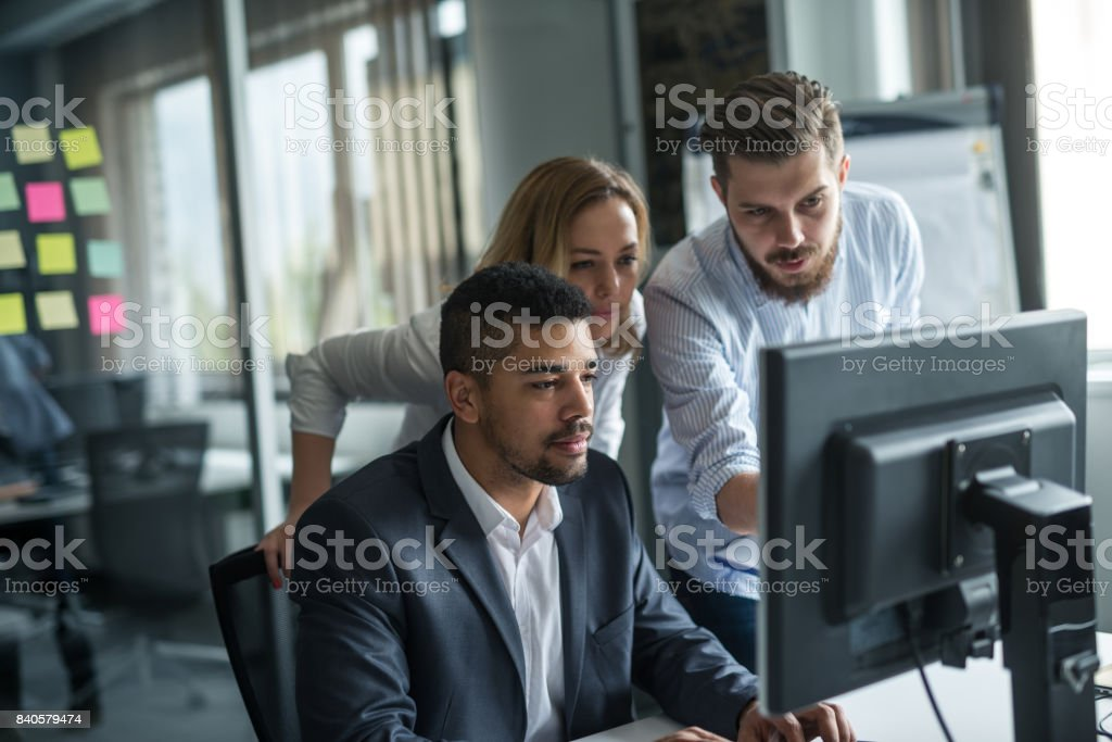 Working as a team stock photo