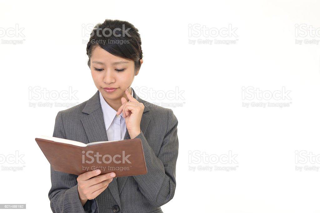 Donna d'affari asiatiche di lavoro foto stock royalty-free