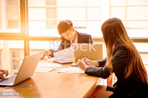 istock Working asian women in workplace with laptop 800488718