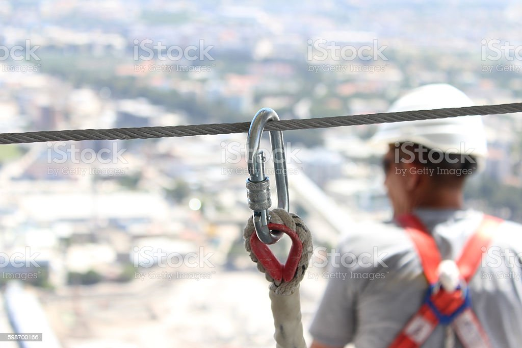 Working at a construction site stock photo