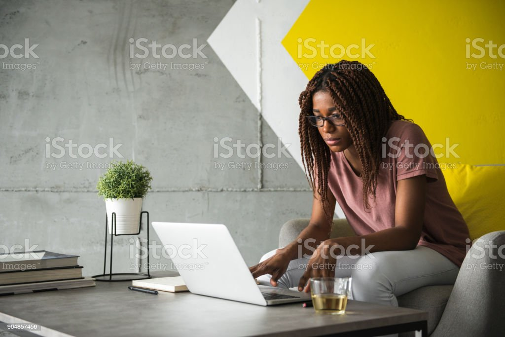 Working at casual office royalty-free stock photo