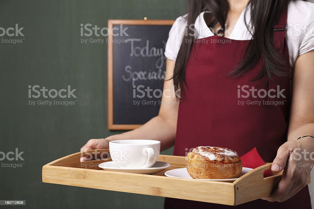 Working at Coffee Shop royalty-free stock photo