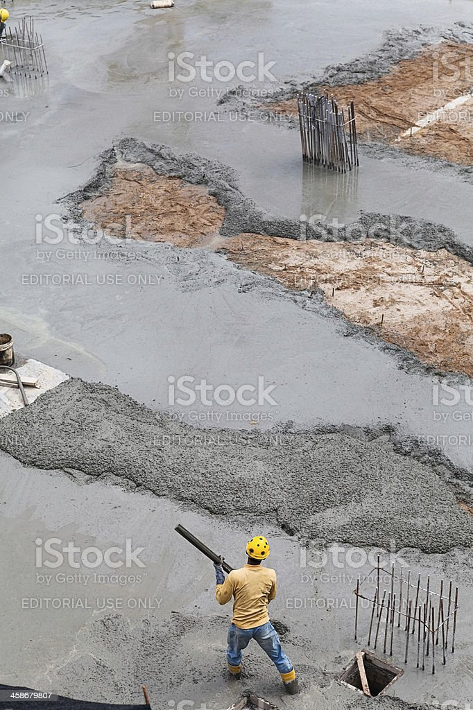 Working at construction site royalty-free stock photo