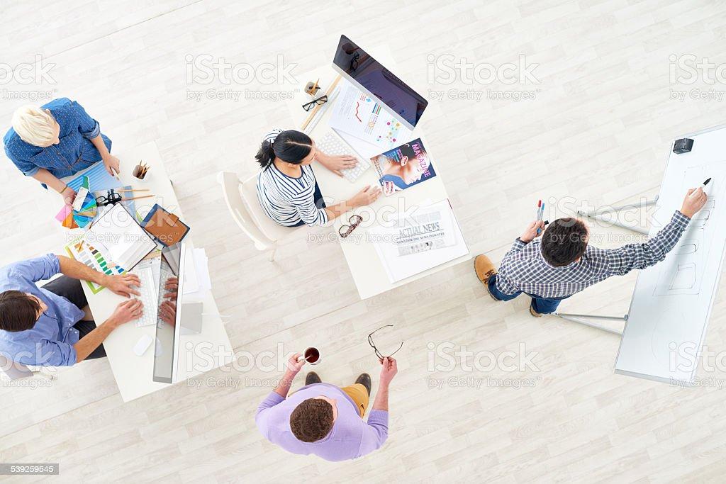 Working at design studio stock photo