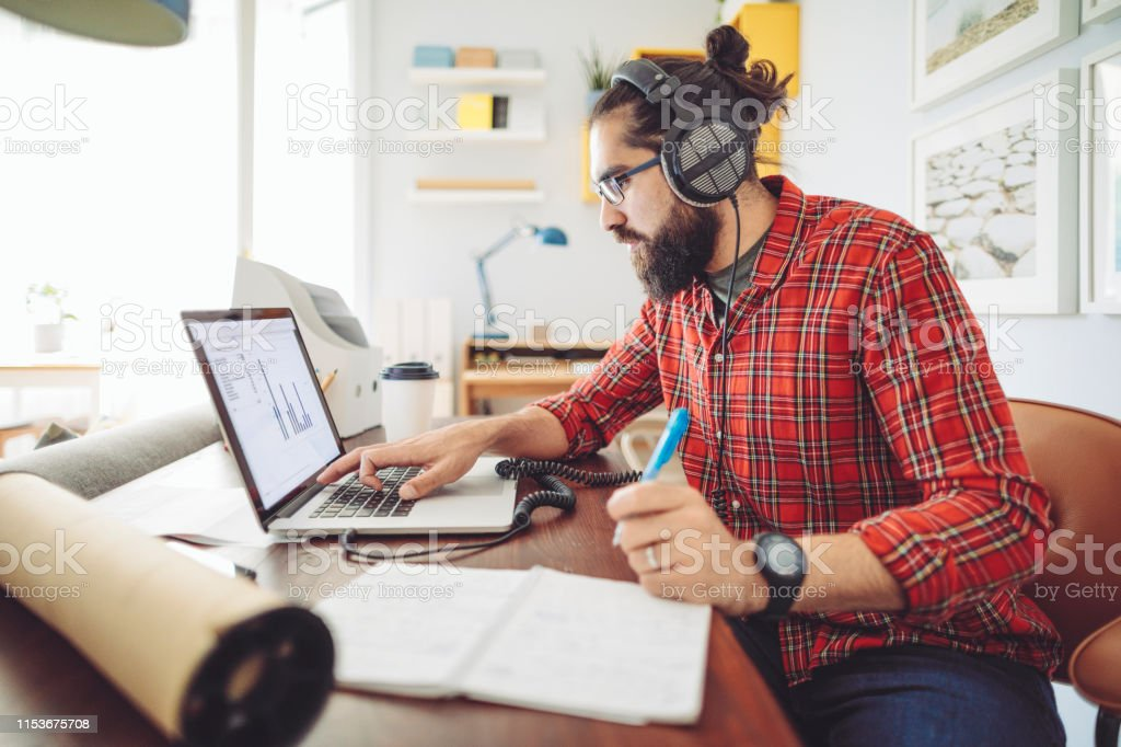 Working at home Working at home 20-29 Years Stock Photo
