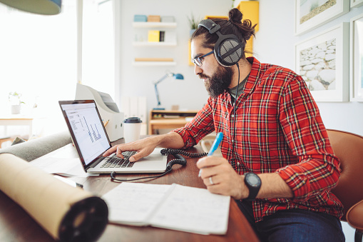 Working At Home Stock Photo - Download Image Now
